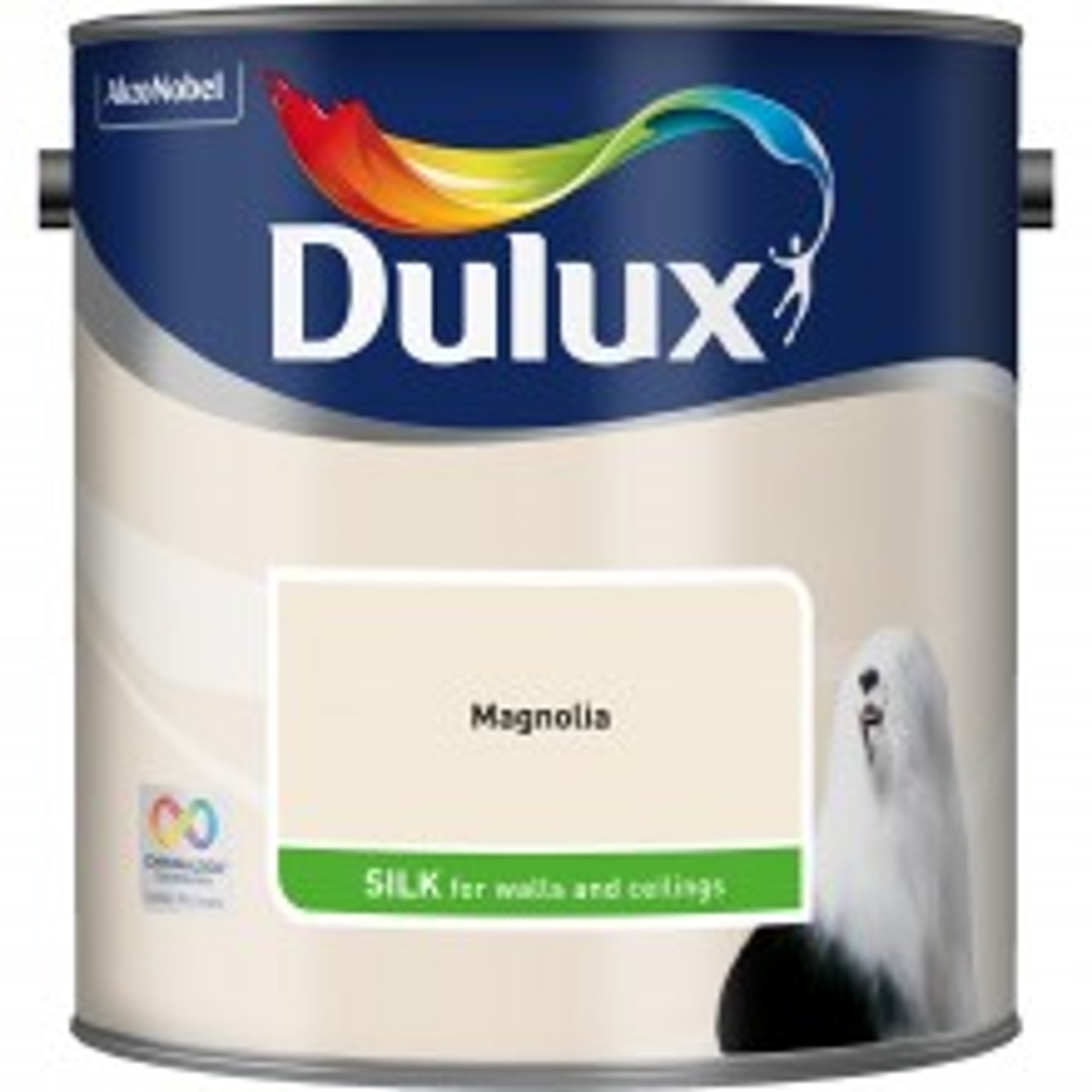 Dulux 5L Silk Standard Emulsion Paint, Magnolia