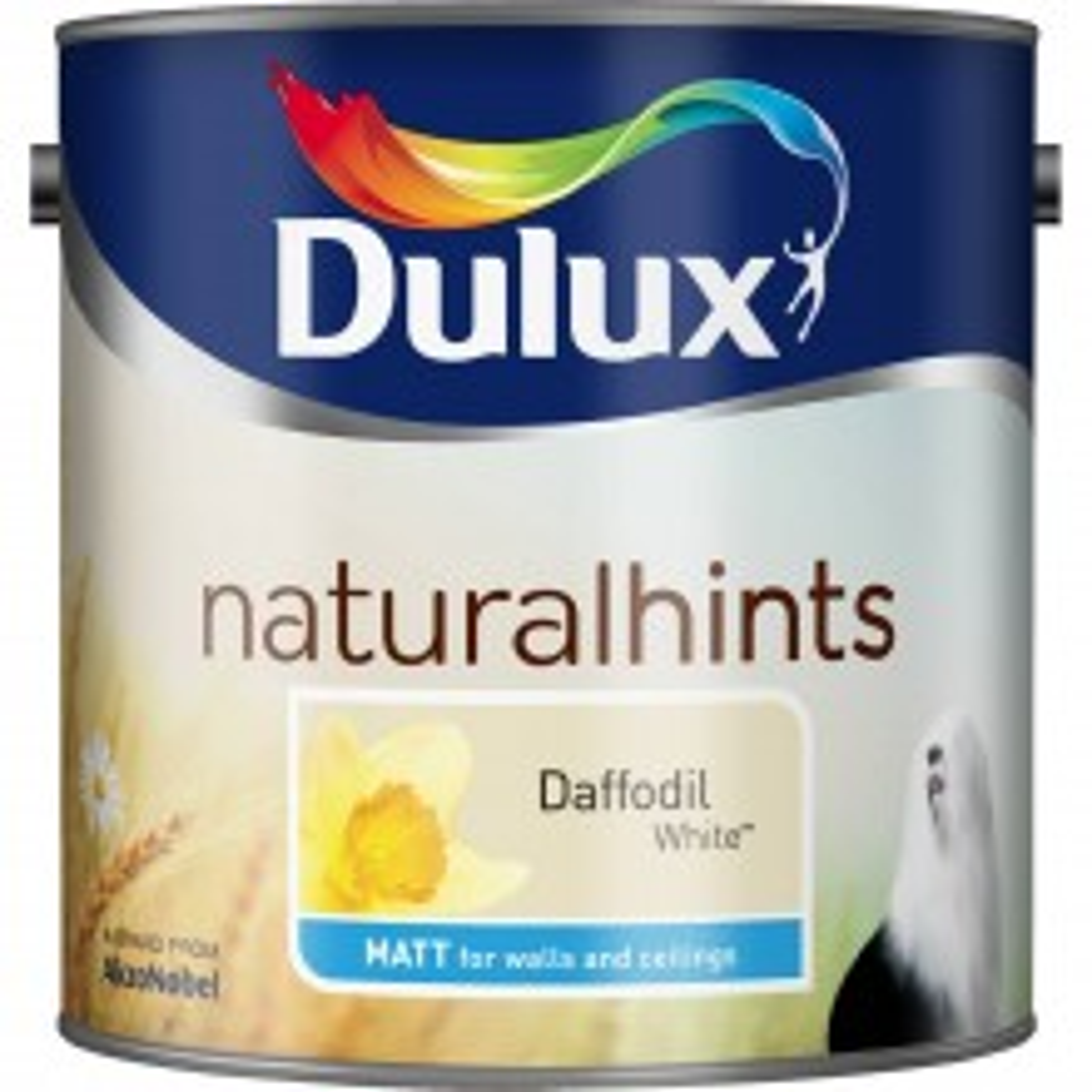 Dulux 2.5l Matt Standard Emulsion Paint, Daffodil White