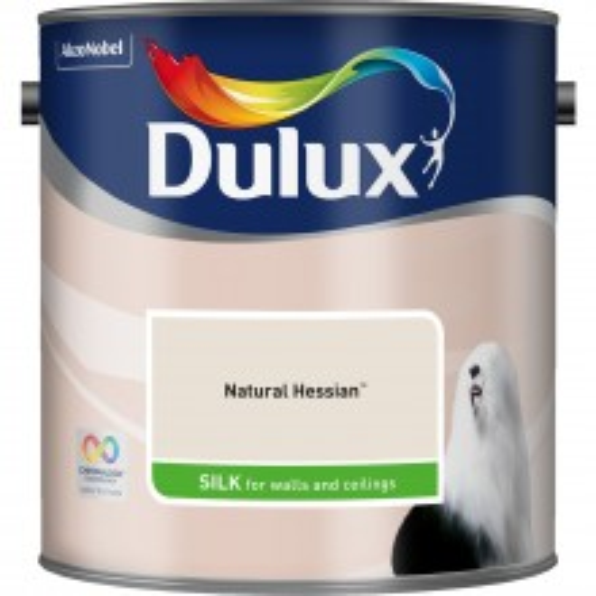 Dulux 2.5l Silk Standard Emulsion Paint, Hessian