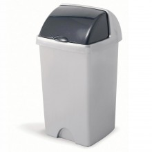 Addis 24l Roll Top Bin Metallic