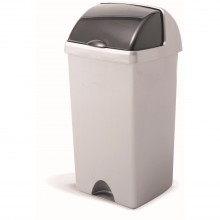 Addis Roll Top Bin 48l, Metallic