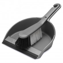 Addis Stiff Dustpan & Brush Set Metallic