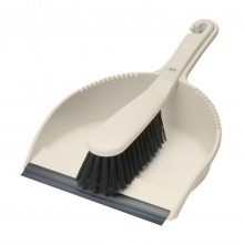 Addis Soft Dustpan & Brush Set Linen