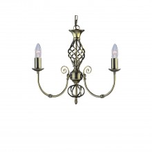 Zanzibar 3 Light Pendant, Antique Brass
