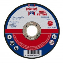 Faithfull115x3.2x22mm Cut Off Wheel
