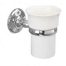 Miller Stockholm Tumbler Holder White Ceramic/Chrome Finish