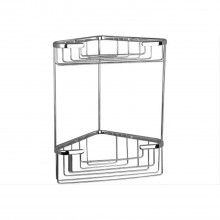 Miller Corner Basket Two Tier Chrome Finish