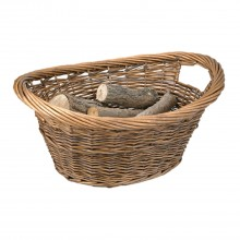 Manor Cradle Log Basket, Brown