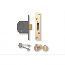 Yale 5  Lever Deadlock 2.5'', Satin Chrome