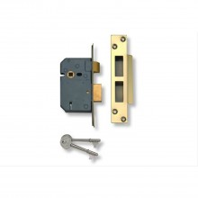 Yale Lever Sash Lock 3'', Polished Brass