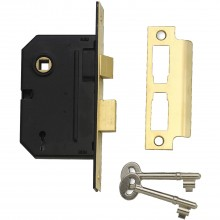 Yale 2 Lever Sash Lock  2.5'', Polished Brass