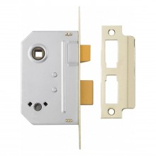 Yale Bathroom Lock 2.5'', Polished Brass
