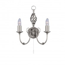 Zanzibar Wall Light, Satin Silver