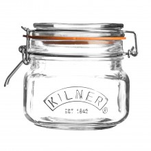 Kilner Square Cliptop Jar, 0.5 Litre