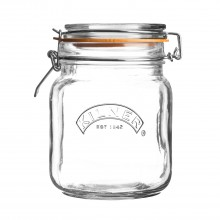 Kilner Square Cliptop Jar, 1 Litre