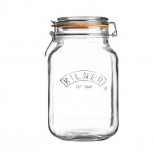 Kilner Square Cliptop Jar, 2 Litre