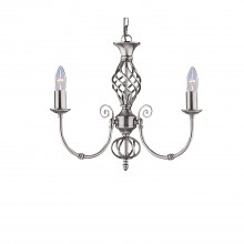 Zanzibar 3 Light Pendant, Satin Silver