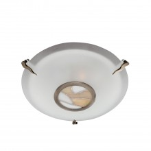 Tiffany Round Flush Light, Amber