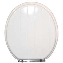 Slatted White Toilet Seat