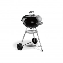 Weber 47cm Compact Kettle Charcoal Barbecue, Black