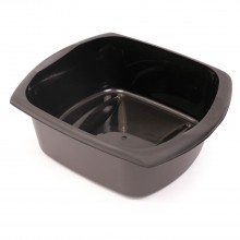 Addis Large Rectangular Bowl, Black