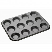 Kitchencraft Master Class Shallow 12 Hole Bun Pan