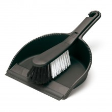 Addis Dustpan And Brush Set, Black