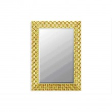 "Gold Mosaic 42""x30"" Mirror"
