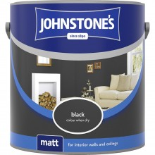 Johnstones 2.5l Matt Emulsion, Black