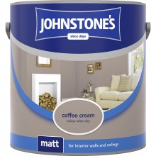 Johnstones 2.5l Matt Emulsion, Coffee Cream