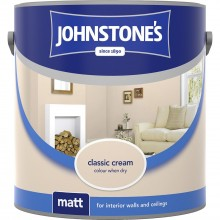 Johnstones 2.5l Matt Emulsion, Classic Cream