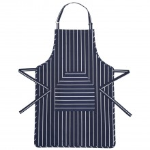 Kitchencraft Butchers Striped Apron, Blue