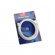 Croydex 1.5m Reinforced PVC Shower Hose - White