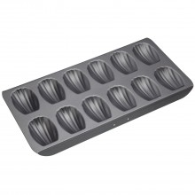 Kitchencraft 12 Hole Madeline Pan, Black