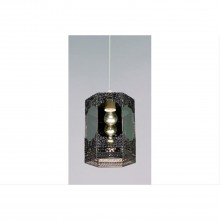 Non- Electic Morrocan Pendant Light, Pewter