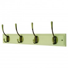 Headbourne 4 Hooks On Cream Wooden Board Coat Rack