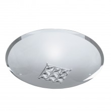 Round Crystal Square Flush Light