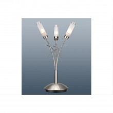 Bambu Table Lamp Satin Silver