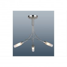 Bambu Ceiling Light, Satin Silver