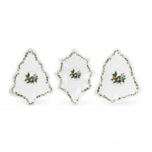 Portmeirion The Holly And Ivy Set Of 3 Christmas Dishes