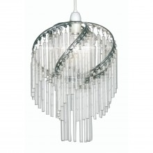 Dara Ceiling Shade, Chrome
