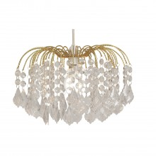 Large Waterfall Ceiling Shade, Brass