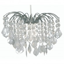 Large Waterfall Ceiling Shade, Chrome