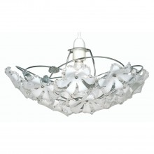 Flower Pendant Large Light, Chrome