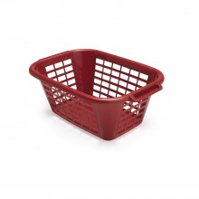 Addis Rectangular Laundry Basket, Red