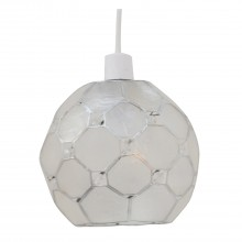 Capiz Shell Polygon Jewelled Ceiling Shade