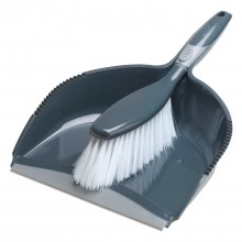 Addis 508878 Comfi Grip Dustpan Set Graphite/Metallic