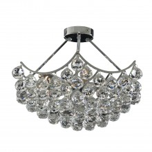 Sassari Flush Ceiling Light, Chrome