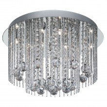 Beatrix 8 Light Ceiling Flush, Chrome