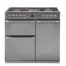 Stoves Sterling Range Cooker 900DFT, Stainless Steel